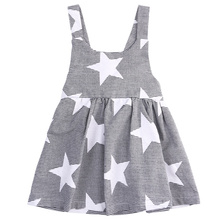 Summer Style Children Girls Dress 2017 Brand Hot Kids Girls Sleeveless Star Spliced Princess Dress For Girl party casual