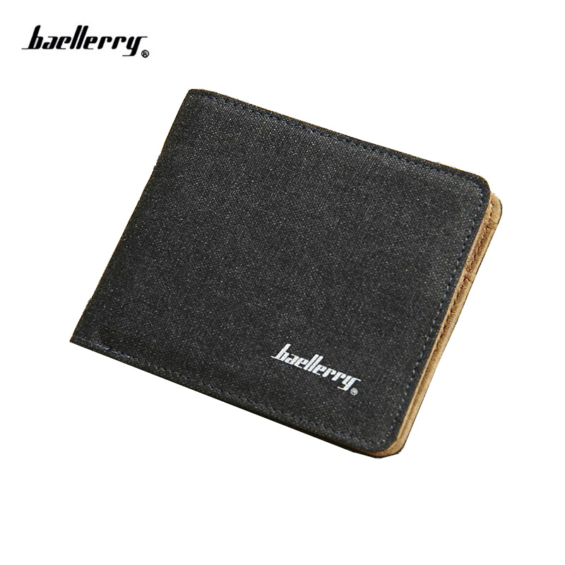 2018 Neue Ankunft Marke kurze Männer Brieftasche Qualität Designer Canvas kurze Geldbörse für männliche niedliche Karte Geldbörse Mode Brieftasche