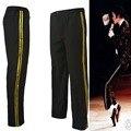 MJ Майкл Джексон Черный Billie Jean Артистов Прямо Золотой брюки Повседневная обрезанные джинсы Эластичность Лодыжки Длины брюки