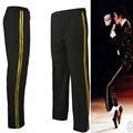 MJ Michael Jackson Billie Jean Negro Artistas Recta de Oro pantalones cosechados Ocasionales de los pantalones vaqueros de la Elasticidad pantalones hasta los Tobillos