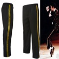 MJ Michael Jackson Black Billie Jean Entertainers Straight Golden trousers Casual cropped jeans  Elasticity Ankle-Length pants