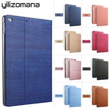 YILIZOMANA Smart Flip Stand Case For iPad 2 3 4 5 6 Air 1 2 2017/2018 Hard Back Cover Auto Sleep/Wake Up Luxury Resin pattern стоимость