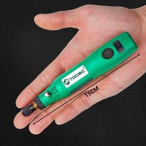 Image 2 - Беспроводная дрель, электроинструменты, электрическая мини дрель, набор аксессуаров для шлифовки, 3,6 В, беспроводная мини гравировальная ручка для инструментов Dremel