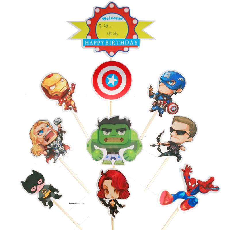 Baby Shower Happy Birthday Party Avengers Cartoon Theme ...