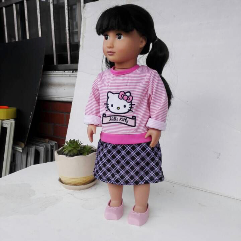 2016 New Style Popular 18 Inch American Girl Doll Clothes/Dress For Christmas Gift AG385