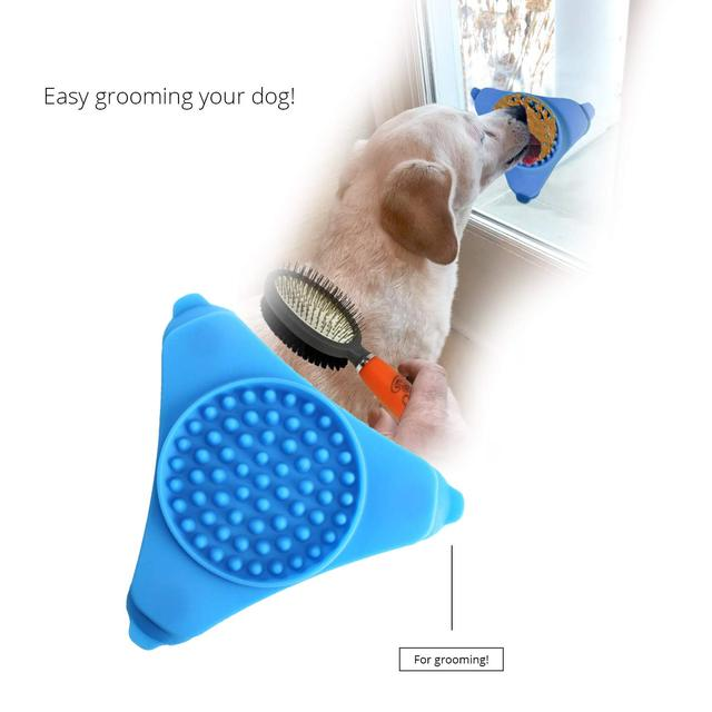 Dog Licking Pad Dog Bath Buddy Slow Feeders Cat Treat Mat Pet Dispensing Mat Pet Bathing Grooming Dog Training