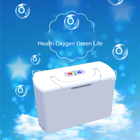 Dos baterías genuino concentrador de oxígeno portátil viaje en casa con cargador de coche AC100V-240V/DC12V-16.8V generador de oxígeno