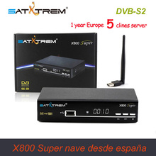 1 Year Europe Clines X800 Super DVB-S2 HD Satellite Receiver Full 1080P HD TV Receiver + USB Wifi Support Youtube Youporn