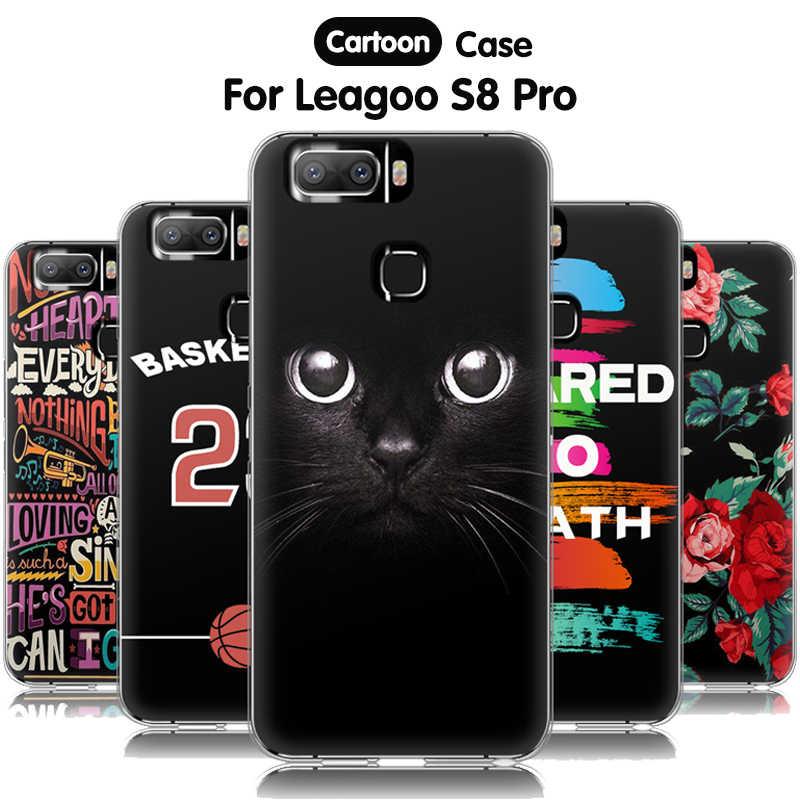 EiiMoo 電話ケース Leagoo S8 プロケース 5.99 「シリコーン漫画のプリントソフト 3D バック Funda ため Leagoo s8 プロカバー Coque