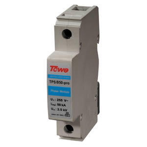 TOWE Discharge Lightning Arresters Protect B50-PRO 50KA 2P 10/350-Up 2-Modules Gap Single-Phase
