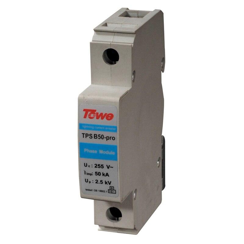 Towe AP B50-PRO 2 P сингл-ювелирные фазы класса B защитить Gap разряда 2 модулей Iimp 50KA 10/350 до 2.0KV молниеотводы
