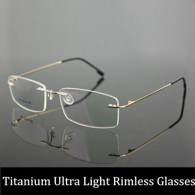 Женщины и мужчины по рецепту очки без оправы оптических стекол кадр с прозрачными линзами