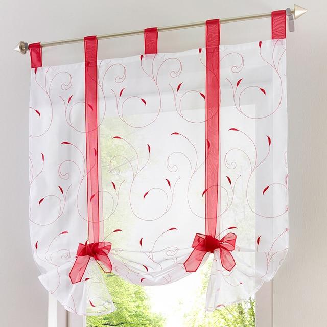 Vorhang volant muster floral kleine küche tür voile organza vorhang ...