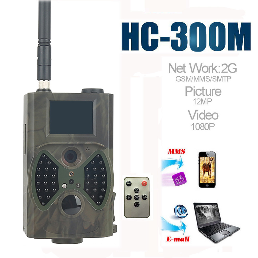 Tensdarcam Hunting Camera Photo Trap HC300M 2G GPRS MMS SMTP SMS Infrared Night Vision Invisible Wildlife Trail Cameras hc 550m gsm gprs sms mms security hunting trail camera hc550m 16mp with 940nm black invisible vision hc 550m