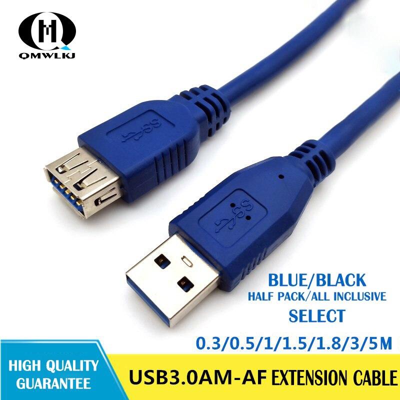Image 5 - Usb3.0 удлинитель мужчин и женщин All Inclusive 0,3 м 0,8 м 1 m 1,5 m 5 метров кабель для передачи данных внешний жесткий диск провода адаптер