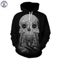 Autumn Winter Fashion Men Women Hoodies With Cap Print Astronaut Skull Couple Hooded Hoody 3d Sweatshirts