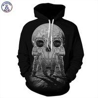 Autumn Winter Fashion Men Women Hoodies With Cap Print Astronaut Skull Couple Hooded Hoody 3d Sweatshirts