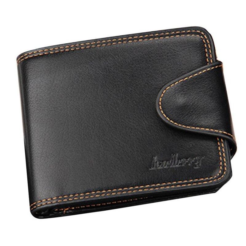 Mens Fashion Leather ID Card Holder Billfold Purse men's wallet Carteira masculina Men clutch bags Coin purse Billetera обувь для детей
