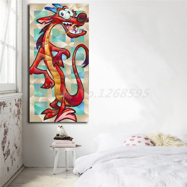 Online Shop Mushu The Coolest Dragon Of Mulan Canvas Posters Prints ...