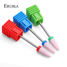 ERUIKA 3 Type Pink Ceramic Nail Drill Bit Rotate Burr For Manicure Electric Nails Drill Accessories Nail Milling Cutter Tools