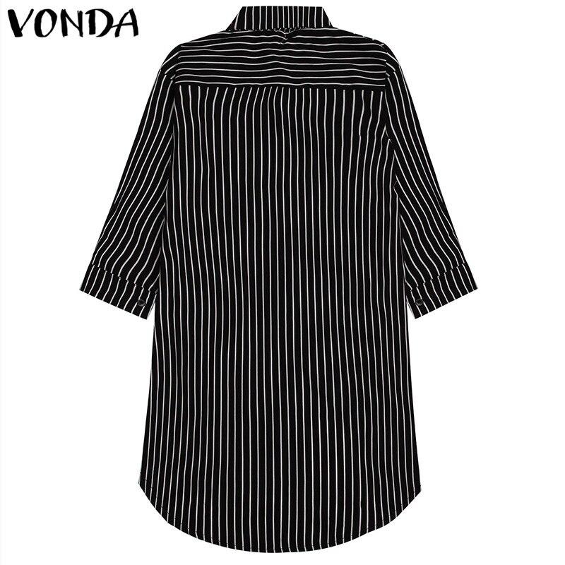 916f10ed4 VONDA vestido bohemio de verano de 2019 mujeres Sexy Cuello V sin mangas de  gran oscilación