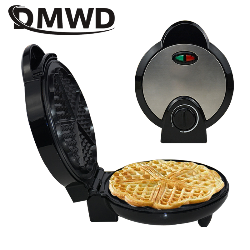 DMWD Electric Waffle Maker Crepe Toaster Non-stick Household Muffin Iron Buuble Eggs Cake Oven Breakfast Baking Machine EU plug