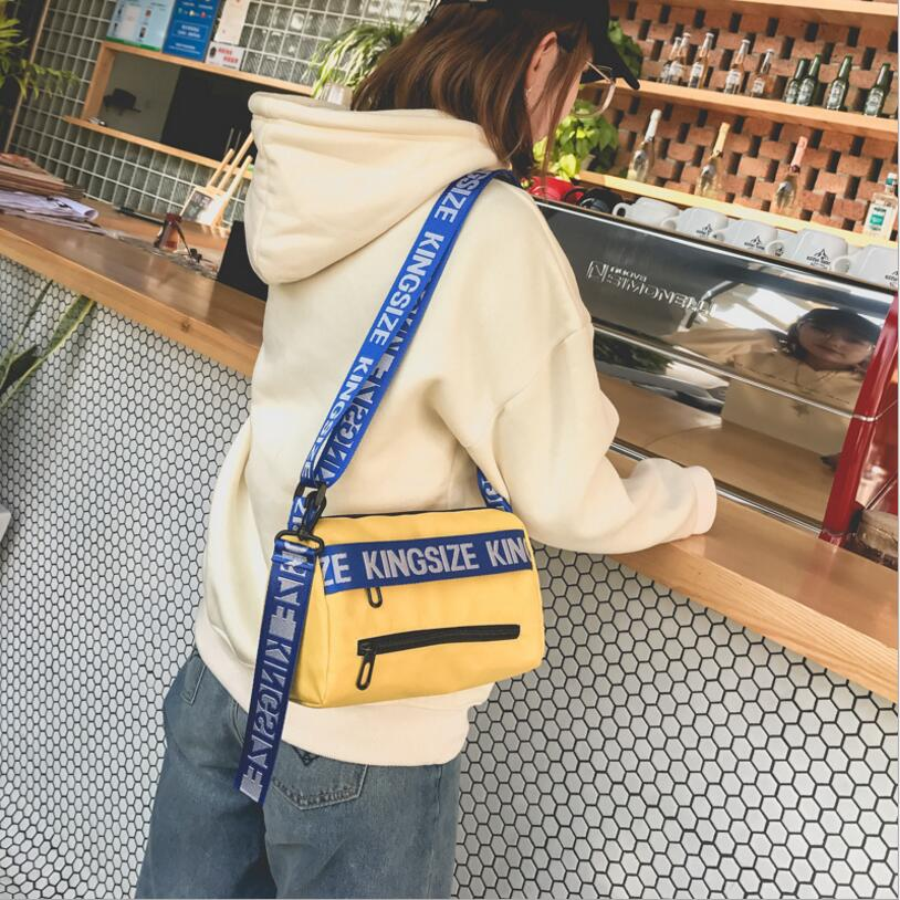 Casual Letter Strap Panelled Lady Flap Women Shoulder Bag #2259 Woman Crossbody Bag Female Christmas Gift