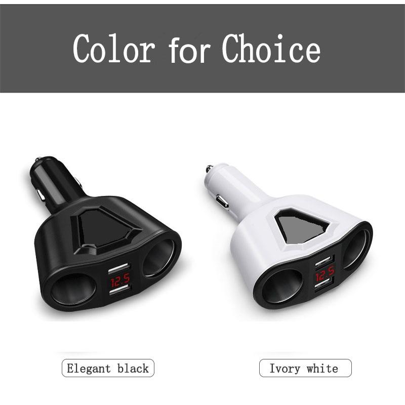 Лидер продаж 5 V 3.1A автомобиля Зарядное устройство для мобильного телефона Портативный 2USB mobilrew авто-Зарядное устройство зажигалка адаптер Высокое качество
