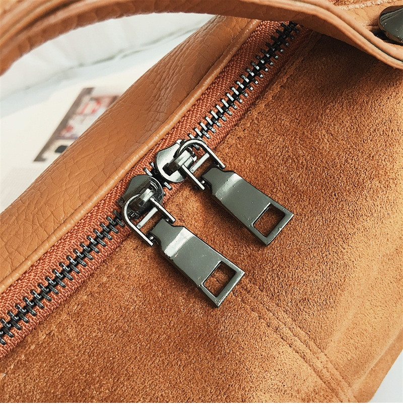 Vintage Rivet women Handbag Matte leather Boston Big Tote bag Winter new Shoulder Bags for Women Messenger Bag Blosa Sac (5)