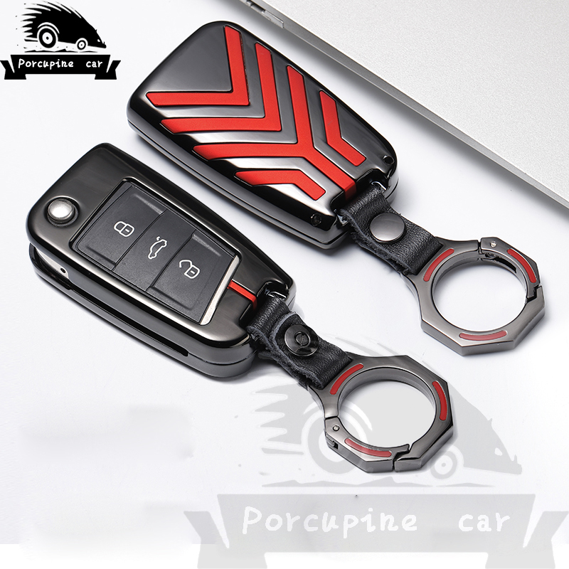 Zinc alloy Car Key Case For <font><b>VW</b></font> <font><b>Sportwagen</b></font> Golf 7 Touran New Polo Octavia Seat For Skoda Octavia A7 Kodiaq Cuptra Combi image