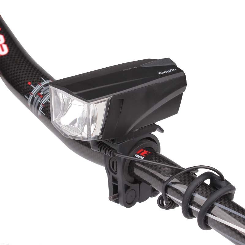 Easydo Bicycle Headlight + <font><b>Horn</b></font> USB Charge Bike Handlebar LED Lamp Electronic Bell Siren Alert Warning Lantern Flashlight STVZO