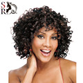 1PC Afro Kinky Curly Wig Short Wigs Quality Assurance Synthetic Hair For African Black Women Aliexpress UK Ombre U Part Wig