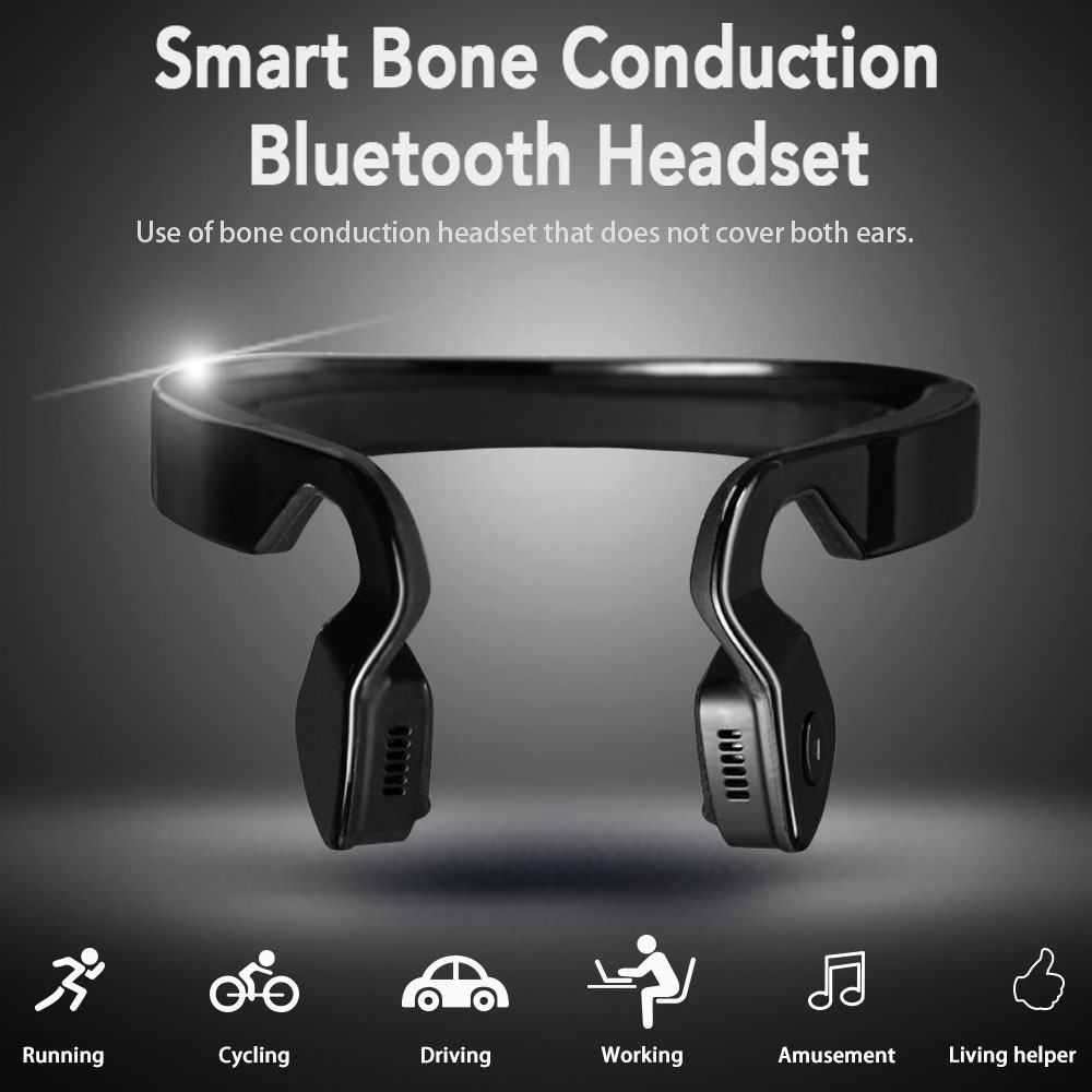 Bone Conduction Headphone Sport Running Bluetooth Earphone Wireless Cycling Headset with Mic Fone De Ouvido Long Standby Bass bluetooth earphone wireless music headphone car kit handsfree headset phone earbud fone de ouvido with mic remax rb t9
