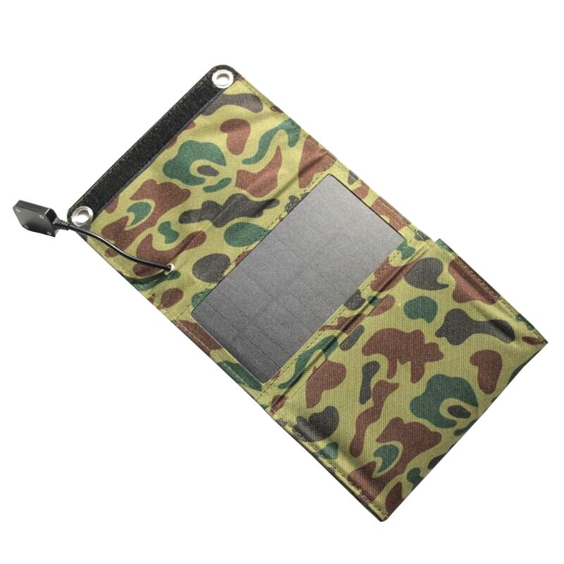 10W Portable Foldable Solar Charger outdoor Travel Waterproof Solar Rechargeable Folding Bag Green in Solar Cells from Consumer Electronics