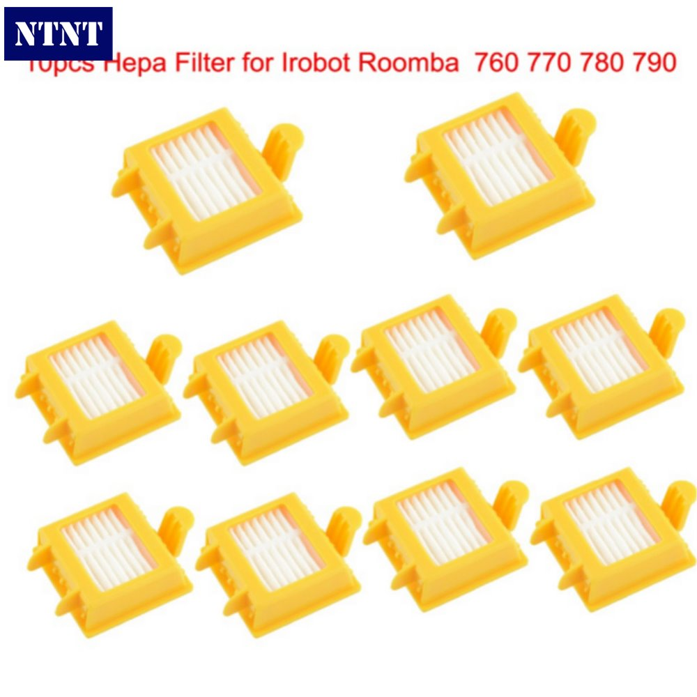 NTNT Free Shipping 10pcs Hepa Filter Clean Replacement Tool Kit Fit for iRobot Roomba 700 Series 760 770 780 790