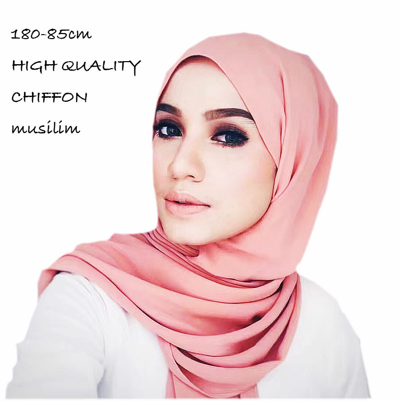 Bubble Pearl Chiffon Women Headscarf Large Size Women Shawl Muslim Women Chiffon Scarf in Women 39 s Scarves from Apparel Accessories