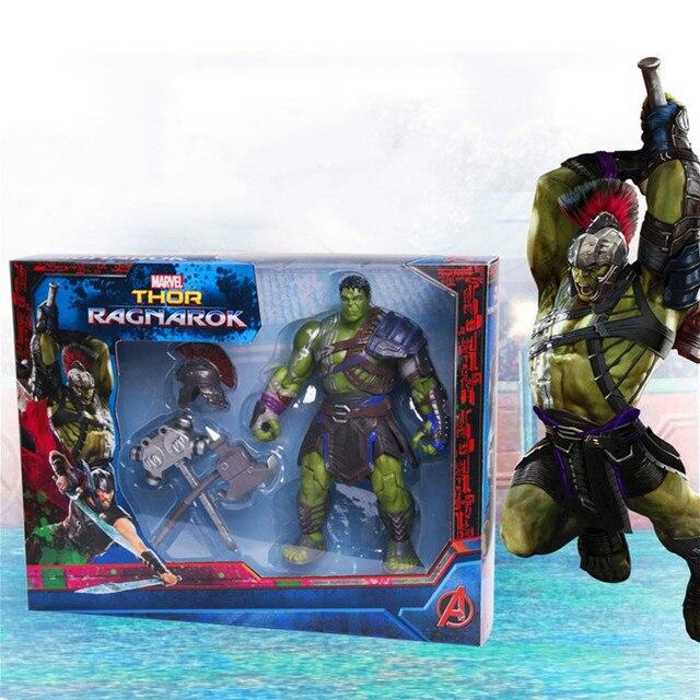 Filme Marvel Thor: ragnarok Hulk Gladiador Com Armas PVC Action Figure Movable Modelo Toy Collectible Presente Super Herói para As Crianças
