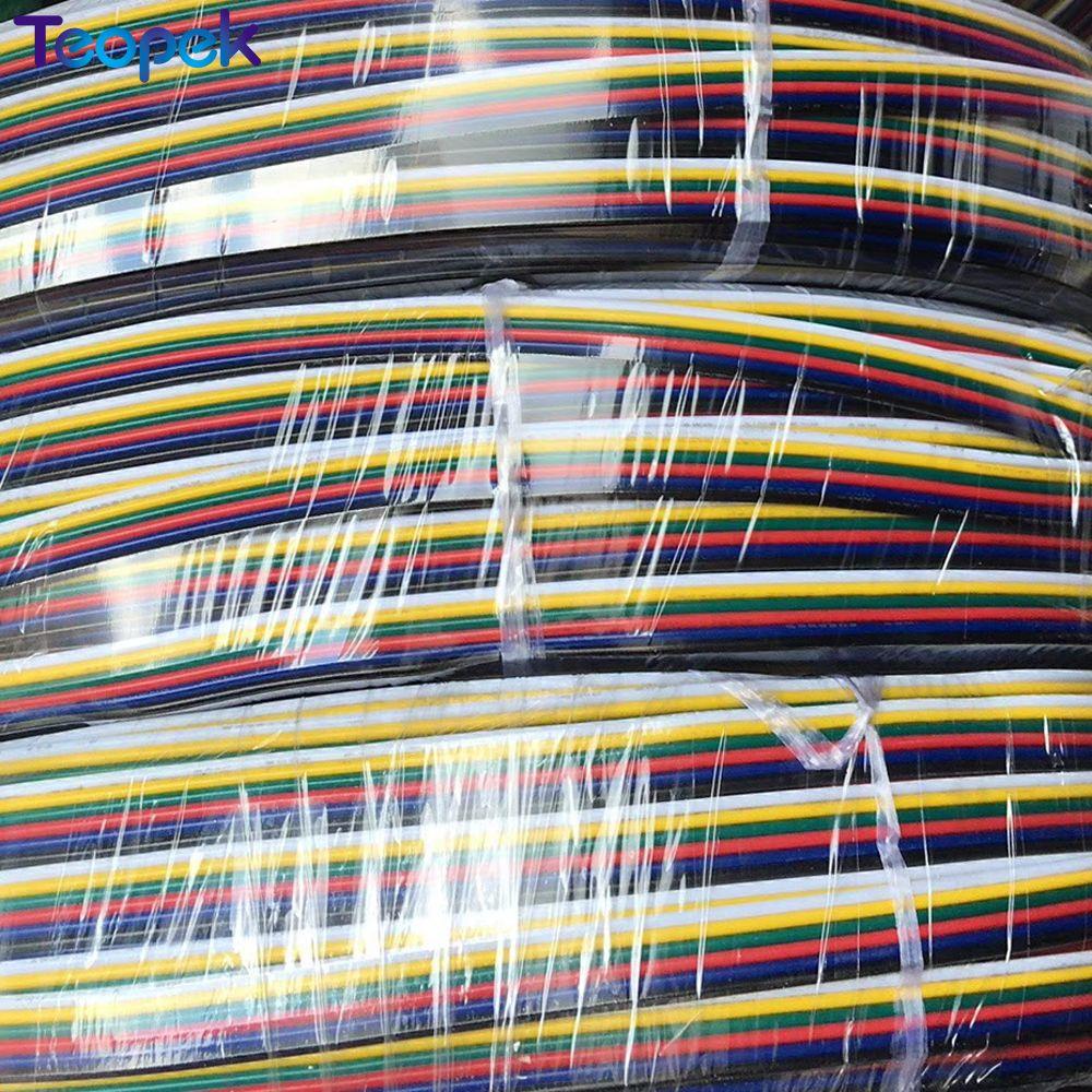 10 м 6-контактный провод кабель 6 каналов Расширение Кабель Провод шнур разъем для RGB CCT светодиодные ленты 22AWG линии
