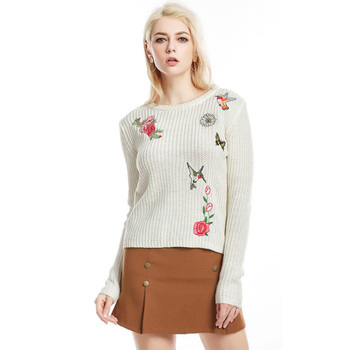 Coarse Pullover O Neck Female Jumper Long Batwing Sleeve Loose Casual Knitted Oversized Sweater 2018 Autumn Fashion фото