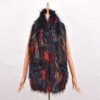 New Women Genuine knitted Fox Fur scarf Real rex rabbit Fur scarf Winter Warm Neck Warmers stole