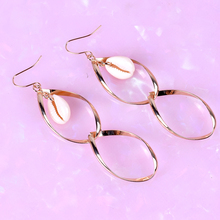 2019 fashion womens shells Drop earrings long paragraph digital gold minimalist beach party jewelry