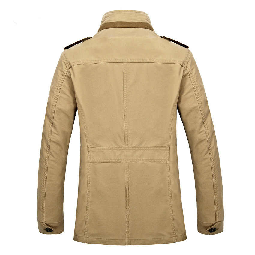 Бесплатная доставка Новая брендовая Весенняя Мужская Новая деловая куртка мужская хлопковая свободная длинная куртка Herren Baumwolle locker langer Mantel 99