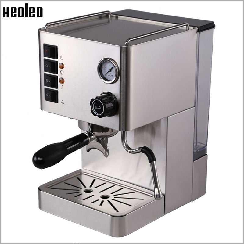 Xeoleo Stainless steel Espresso Coffee maker Automatic Coffee machine 15 Bar Pump Espresso machine pressure Espresso Coffee elizabeth kuhnke increase your influence in a day for dummies