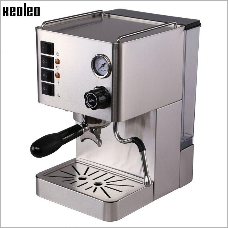 Xeoleo Stainless steel Espresso Coffee maker Automatic Coffee machine 15 Bar Pump Espresso machine pressure Espresso Coffee