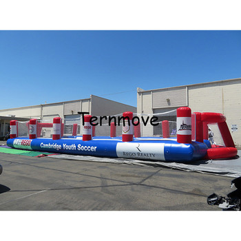 Inflatable soccer field air football pitch for kids inflatable soccer arena football court for sale cheap soccer court for sale фото