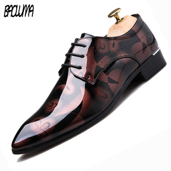 BAOLUMA Mens Designer Shoes Fashion Men Oxford Shoes Moccasins 2018 Casual Men British Shoes Flats Leather Shoes 46 47 48 49 50