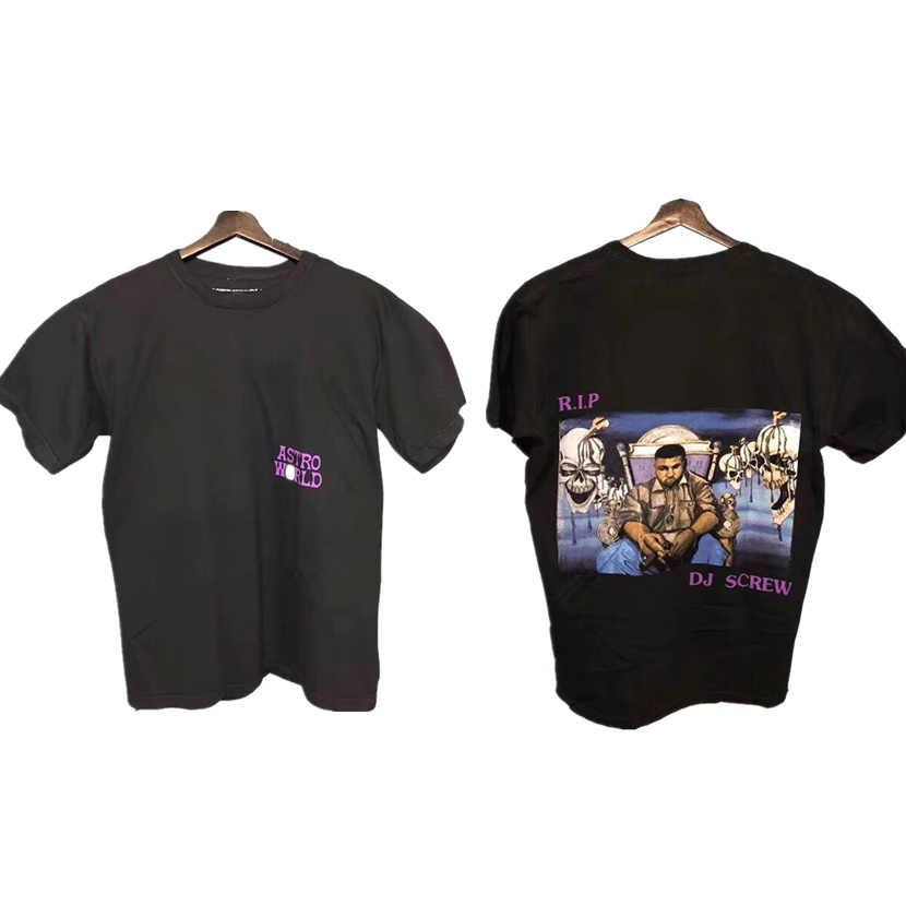 339dcc653d70 Detail Feedback Questions about 19ss Travis Scott astroworld RIP DJ Screw  Tee T shirt Wen 1:1 Best Quality T shirts Top Tees Travis Scott ASTROWORLD  T shirt ...