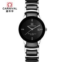 2018 Топ любителей моды Смотреть бренд Carvinal Роскошные Простой Повседневное Водонепроницаемый Relogio Feminino подарок часы Кварцевые наручные часы