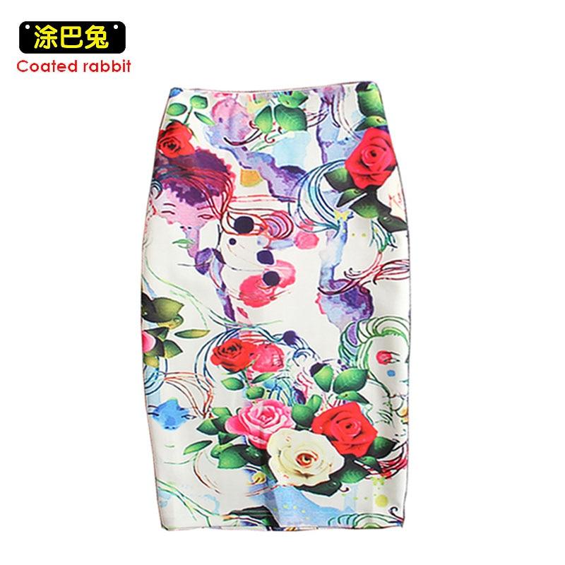 Модна спідниця 2018 року Жіночі троянди - Жіночий одяг