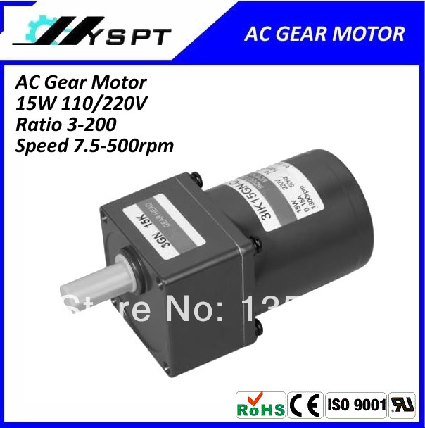 AC 15W single phase <font><b>220V</b></font> 50Hz <font><b>10rpm</b></font> gear <font><b>motor</b></font> image